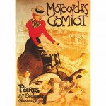 DToys-67555-VP02-(69634) Jigsaw Puzzle - 1000 Pieces - Vintage Posters : Comiot Motocycles