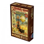 Puzzle  Dtoys-67555-VP20 Vintage Poster - Paris