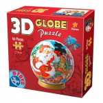 Dtoys-67609-GP-01 Globe Puzzle -Father Christmas and the snowman