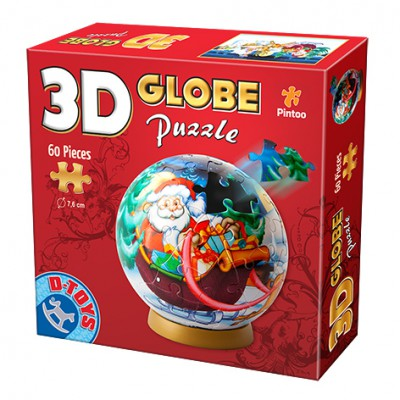 Dtoys-67609-GP-02 Globe Puzzle - Father Christmas in his sleigh