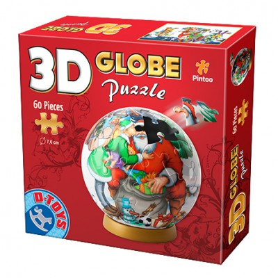Dtoys-67609-GP-04 Globe Puzzle -We love you Santa Claus