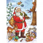 DToys-67616-CH02 Jigsaw Puzzle - 35 Pieces - Christmas Collection : Santa Claus's Sack is Ready