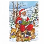 DToys-67616-CH04 Jigsaw Puzzle - 35 Pieces - Christmas Collection : Reading in the Evening
