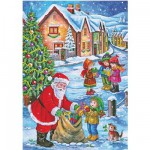 DToys-67623-CH01 Jigsaw Puzzle - 48 Pieces - Christmas Collection : Delivering Presents