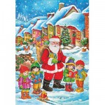 DToys-67623-CH02 Jigsaw Puzzle - 48 Pieces - Christmas Collection : Thank you Santa Claus