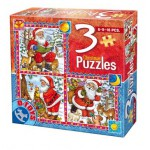 Dtoys-67630-CH-01 Tales of Christmas: 3 Christmas Puzzles