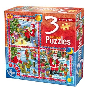 Dtoys-67630-CH-02 Tales of Christmas: 3 Christmas Puzzles