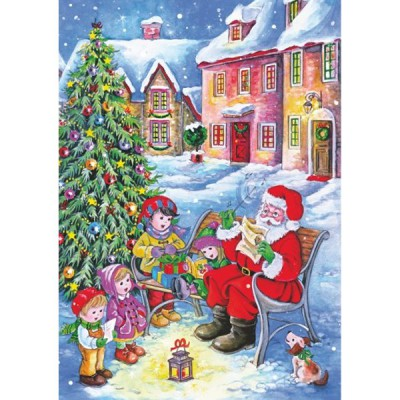 DToys-67647-CH01 Jigsaw Puzzle - 240 Pieces - Christmas Collection : Meeting Santa Claus