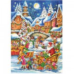 DToys-67647-CH02 Jigsaw Puzzle - 240 Pieces - Christmas Collection : In the Sleigh