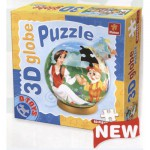 Dtoys-67814-GP-02 Globe Puzzle - Blanche Neige and the 7 dwarfs