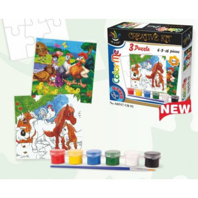 Dtoys-68347-CM-01 Creative kit to invent its own puzzle