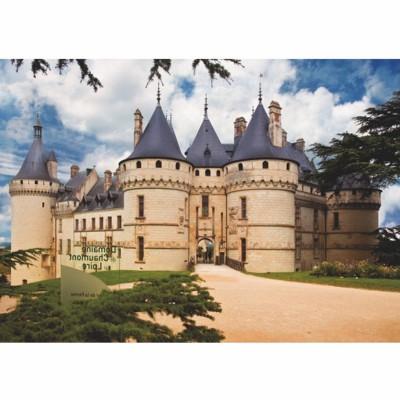 DToys-69542 Jigsaw Puzzle - 1000 Pieces - Castles of France : Château de Chaumont
