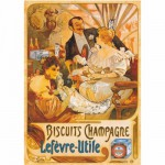 Dtoys-69603 Jigsaw Puzzle - 1000 Pieces - Vintage Posters : Lefevre-Utile Champagne Biscuits