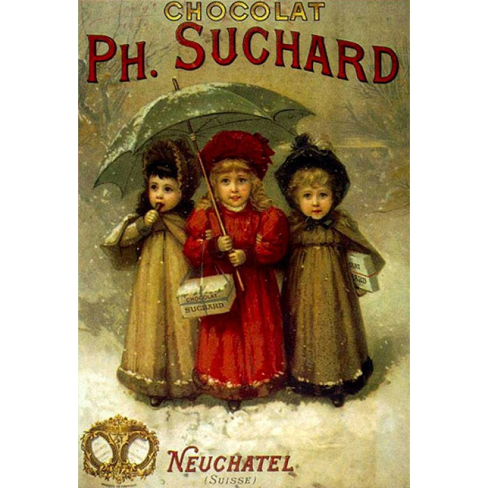 Jigsaw Puzzle - 1000 Pieces - Vintage Posters : Ph. Suchard Chocolates