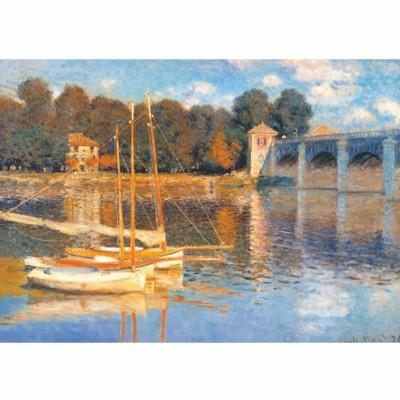 DToys-69672 Jigsaw Puzzle - 1000 Pieces - Monet : Bridge at Argenteuil