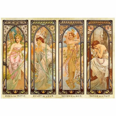 Dtoys-70050 Jigsaw Puzzle - 1000 Pieces - Alphonse Mucha : Times of Day