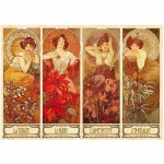 Dtoys-70067 Jigsaw Puzzle - 1000 Pieces - Alphonse Mucha : Precious Stones