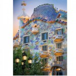 DToys-70357 Jigsaw Puzzle - 1000 Pieces - Discovering Europe : Casa Batllo, Barcelona, Spain
