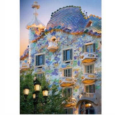 DToys-70357 Jigsaw Puzzle - 1000 Pieces - Discovering Europe : Casa Batllo, Barcelona, Spain