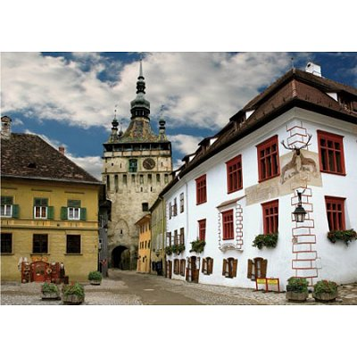 DToys-70371 Jigsaw Puzzle - 1000 Pieces - Discovering Europe : Schasburg, Sighisoara, Romania