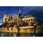 DToys-70517 Jigsaw Puzzle - 1000 Pieces - Nocturnal Landscapes : Notre Dame Cathedral, Paris