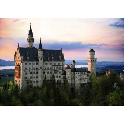 Dtoys-70524 Jigsaw Puzzle - 1000 Pieces - Nocturnal Landscapes : Neuschwanstein Castle, Germany