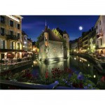 DToys-70531 Jigsaw Puzzle - 1000 Pieces - Nocturnal Landscapes : Annecy, France