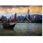 DToys-70548 Jigsaw Puzzle - 1000 Pieces - Nocurnal Landscapes : Hong Kong Island