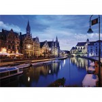 Dtoys-70562 Jigsaw Puzzle - 1000 Pieces - Nocturnal Landscapes : Gand, Belgium