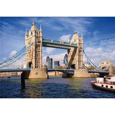 DToys-70609 Jigsaw Puzzle - 1000 Pieces - Famous Places : Tower Bridge, London