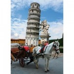 DToys-70647 Jigsaw Puzzle - 1000 Pieces - Famous Places : Pisa Tower, Italy