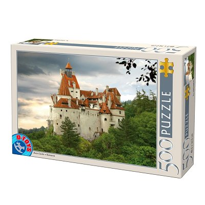 DToys-70678 Jigsaw Puzzle - 500 Pieces - Romania : Bran Castle