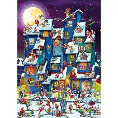 DToys-70869 Jigsaw Puzzle - 1000 Pieces - Cartoon Collection : Christmas Mess