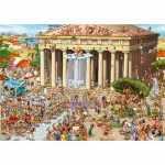 DToys-70883 Jigsaw Puzzle - 1000 Pieces - Cartoon Collection : Acropolis