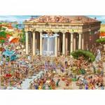 DToys-70883 Jigsaw Puzzle - 1000 Pieces - Cartoon Collection : Acropolis