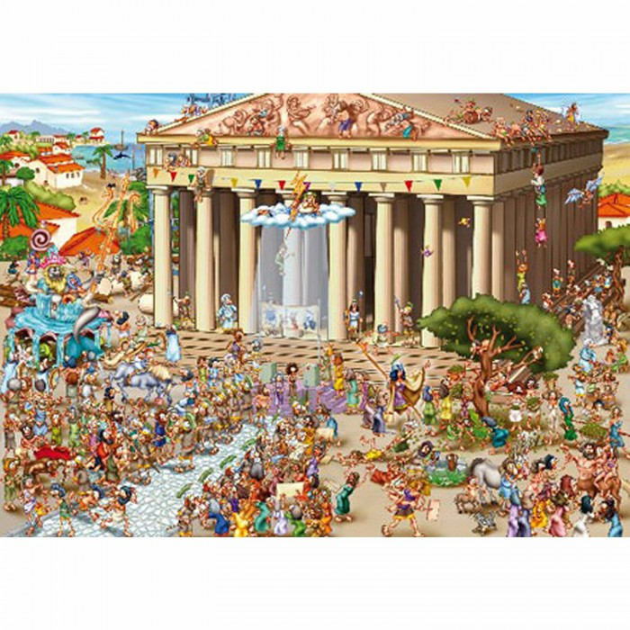 Jigsaw Puzzle - 1000 Pieces - Cartoon Collection : Acropolis