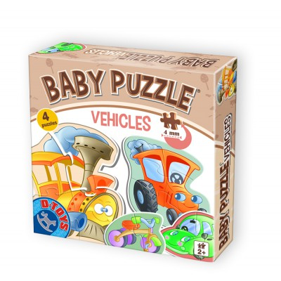 Dtoys-71279-BP-01 4 Jigsaw Puzzles - Baby Puzzle