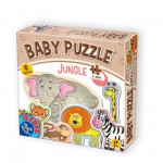 Dtoys-71286-BP-01 6 Jigsaw Puzzles - Baby Puzzle - Jungle