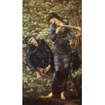 Puzzle  Dtoys-72733-BU02-(75024) Edward Burne-Jones: The Beguiling of Merlin, 1872-1877