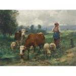 Puzzle  Dtoys-72788-DU02 Julien Dupré: A Shepherdess with her Flock