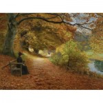 Puzzle  Dtoys-72795-BR02-(75093) Hans Andersen Brendekilde: A Wooded Path in Autumn