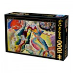 Puzzle  Dtoys-72849-KA02 Kandinsky Vassily: Painting with Red Spot
