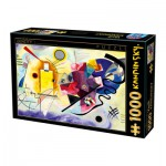 Puzzle  Dtoys-72849-KA03-(75123) Kandinsky Vassily: Yellow, Red, Blue