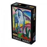Puzzle  Dtoys-72856-MA02-(75147) Marc Franz: Blue Horse