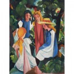 Puzzle  Dtoys-72863-MA-01 August Macke: Four Girls