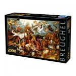 Puzzle  Dtoys-72900-BR-02 Brueghel Pieter: The Fall of the Rebel Angels, 1562