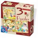 Dtoys-72924-EM-01 3 Jigsaw Puzzles - Tales and Legends