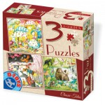 Dtoys-72924-EM-02 3 Jigsaw Puzzles - Tales and Legends