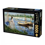 Puzzle  Dtoys-73068-MA05-(74522) Edouard Manet - The-Banks of the Seine at Argenteuil