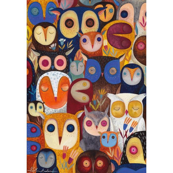 Kurti Andi - Collage - Owls